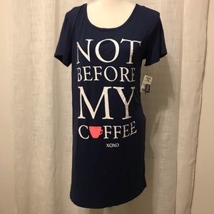 Not Before My Coffee ☕️ Comfy nightgown tee